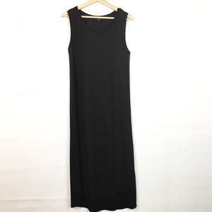 COS Pleated Side Hi Low Raw Hem Midi Dress